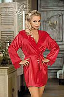 Красный атласный халат Excellent beauty N-710