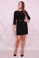 Красивое прямое женское платье из трикотажа с люрексом