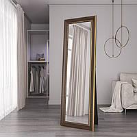 Большое зеркало в пол в раме 176х56 Темно-коричневое Black Mirror для дома комнаты прихожей спальни коридора