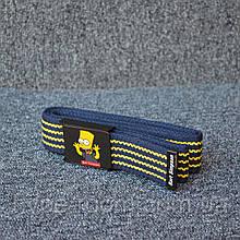 Ремень Supreme Bart Simpson blue yellow 110см