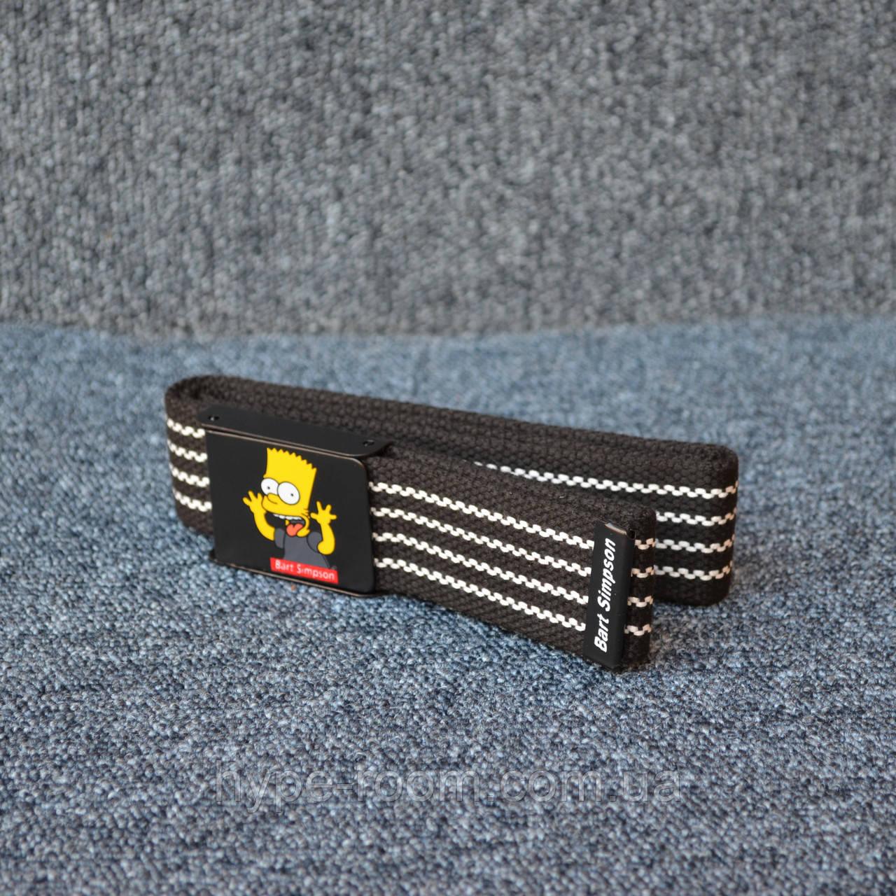 Ремінь Supreme Bart Simpson black white 110см
