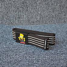 Ремень Supreme Bart Simpson black white 110см