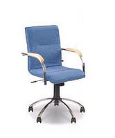Стілець-крісло Самба поворотне для відвідувачів, підлокітники з м'якими накладками