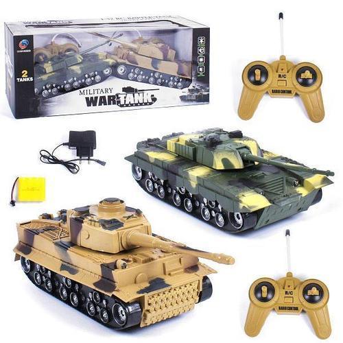 """Танковий бій на радіоуправлінні """"Military Tank War"""" 369-23, 2 танки"""