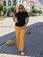 Літні легкі брюки вільного крою для повних жінок, фото 1