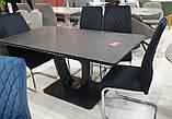Стіл обідній розсувний TML-560 матовий чорний 120/160х80 (безкоштовна доставка), фото 2