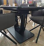 Стіл обідній розсувний TML-560 матовий чорний 120/160х80 (безкоштовна доставка), фото 4