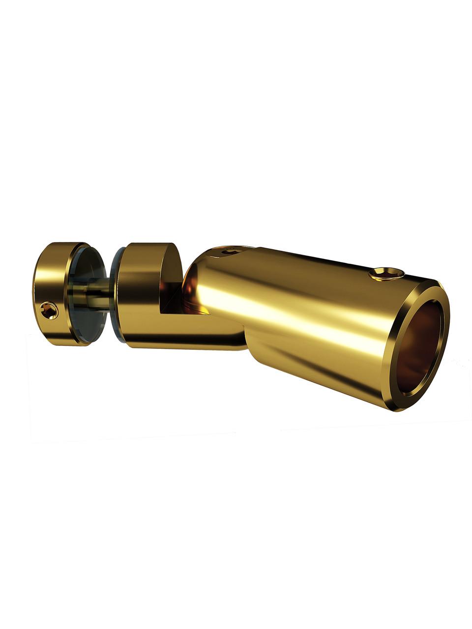 ODF-09-24-10 Кріплення душової штанги 16 мм до скла через отвір, регульоване, колір золото