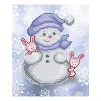 """Схема для вышивки бисером """"Снеговик и зайчата"""""""