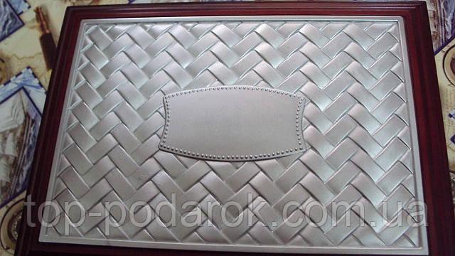 Шкатулка для украшений деревянная верх с напылением серебра