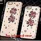 Чехол iphone 6 с камнями, цветы и стразы, фото 2