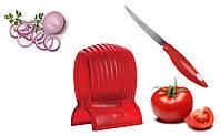Держатель для нарезки овощей Томато Слайсер, Tomato Slicer and knife, фото 1