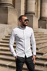 Льон | 5 кольорів | S-2XL | Чоловіча лляна сорочка Closer Slim Fit, фото 2