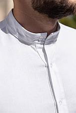 Льон | 5 кольорів | S-2XL | Чоловіча лляна сорочка Closer Slim Fit, фото 3