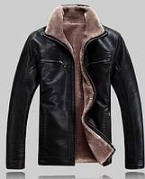 Мужская кожаная куртка.Дубленка мужская зимняя.