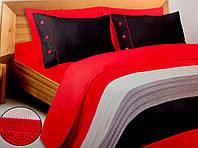 Постельное белье For you модель Red end black (+вязанный плед), фото 1