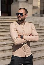 Лён | 5 цветов | S-2XL | Мужская льняная рубашка Closer Slim Fit, фото 3