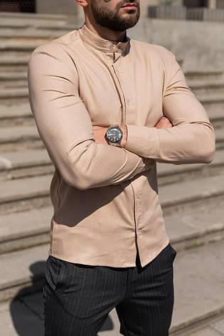 Лён | 5 цветов | S-2XL | Мужская льняная рубашка Closer Slim Fit, фото 2