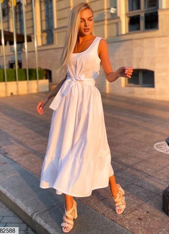 Платье макси из коттона