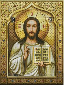 """Набор алмазной вышивки (мозаики) икона """"Иисус Христос"""" размер 78х55"""