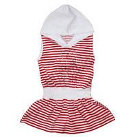 Платье с капюшоном, рост 116-122 см