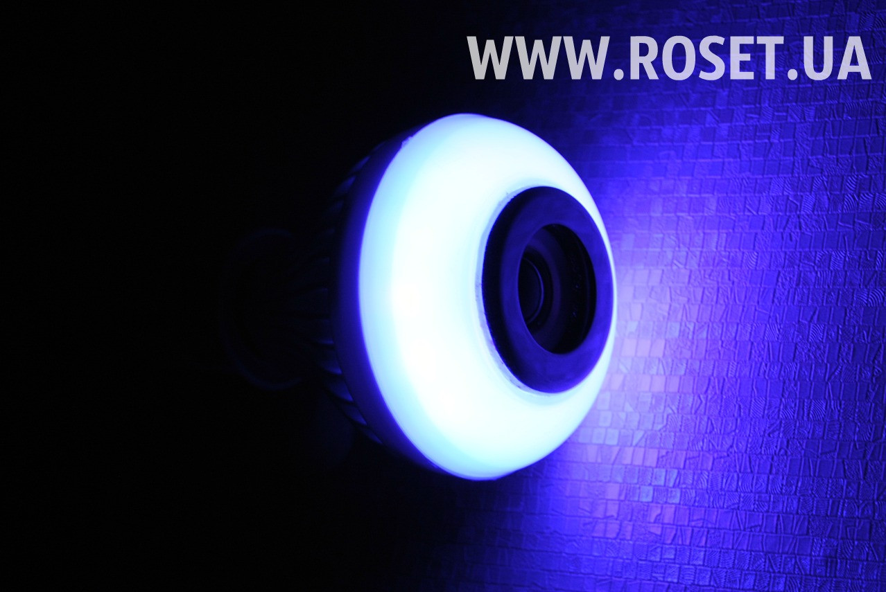 Диско-лампочка со встроенной Bluetooth колонкой Full Color Lamp LED