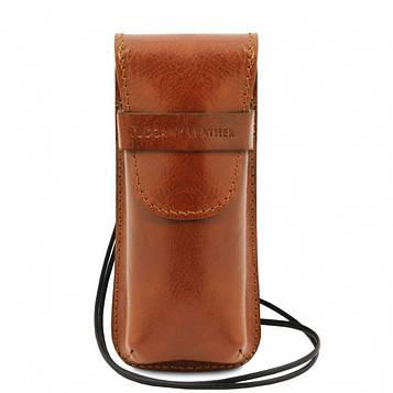 TL141282 Эксклюзивный кожаный футляр для Очков/Смартфона, цвет: Мед