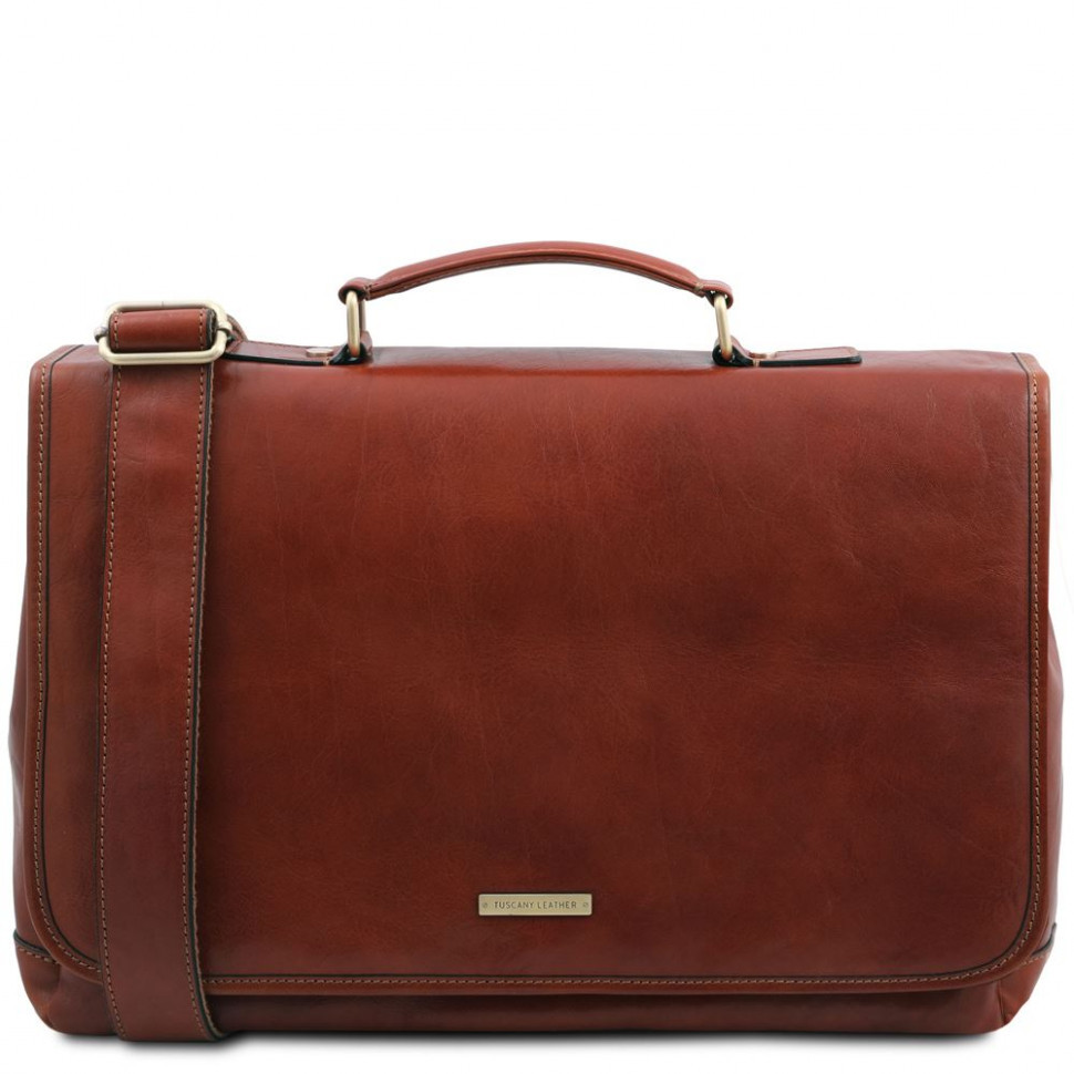 Mantova TL SMART сумка портфель кожаная TL142068 от Tuscany (Brown - коричневый)