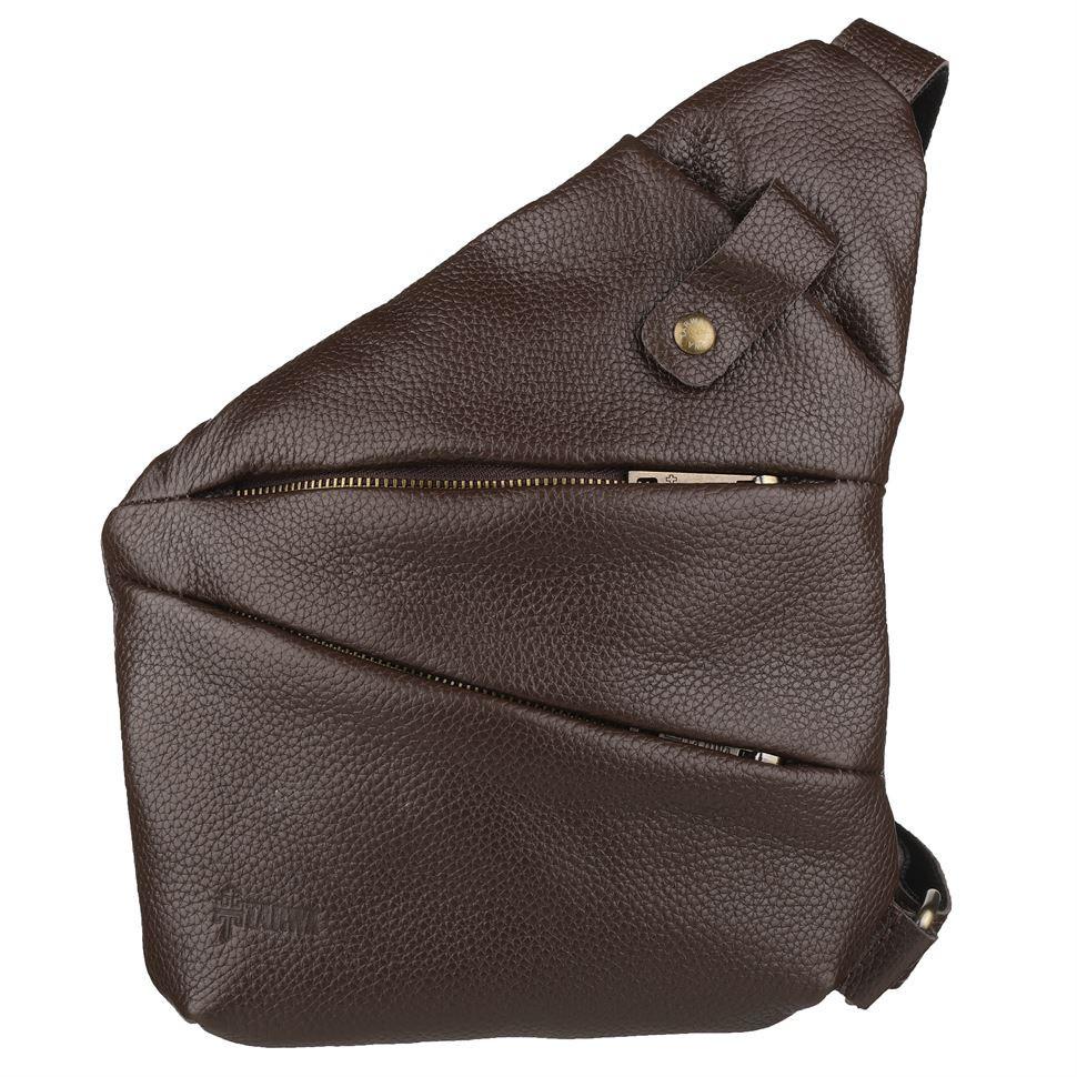 Чоловіча сумка-слінг через плече FC-6402-3md коричневий флотар, бренд TARWA