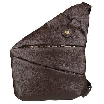 Мужская сумка-слинг через плечо FC-6402-3md коричневый флотар, бренд TARWA