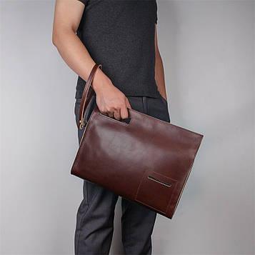 Кожаная сумка-папка, портфолио, органайзер, мессенджер большой размер John McDee A0011XL