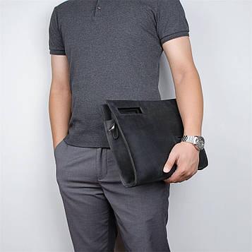 Кожаная сумка-папка, портфолио, органайзер, мессенджер малый размер John McDee A0011AS