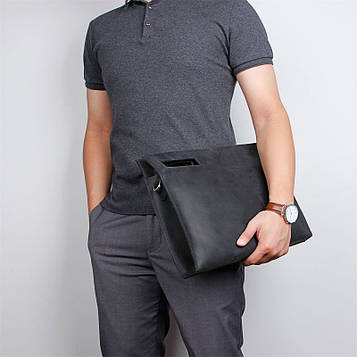 Кожаная сумка-папка, портфолио, органайзер, мессенджер большой размер John McDee A0011AL