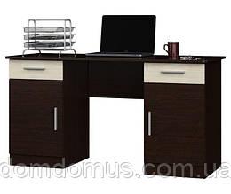 """Комп'ютерний стіл """"Вчитель"""" (1400х550х750) Венге темний / Дуб молочний"""