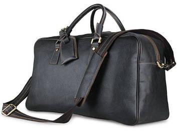 Шкіряна дорожня сумка в класичному стилі 7156LA