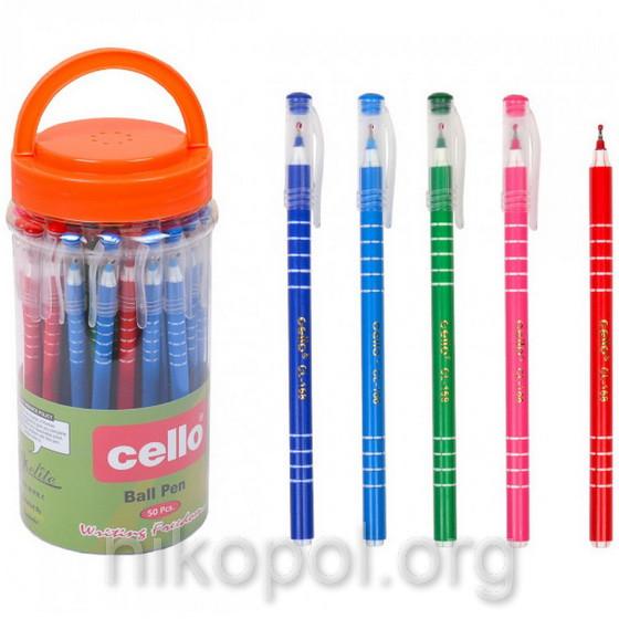 Ручка масляна Cello CL-168 синя