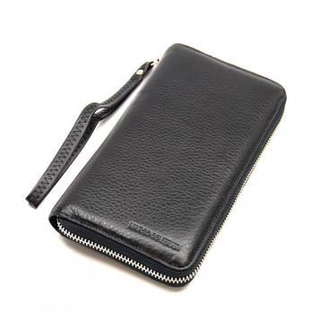 Marco coverna MC-802-1 клатч портмоне чоловіче, чорна натуральна шкіра