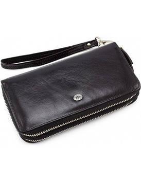 Чоловічий гаманець-клатч шкіряний ST Leather B139-3 чорний