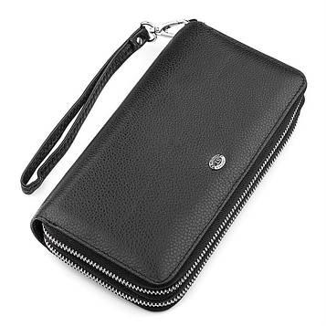 Чоловічий гаманець ST Leather 18451 (ST127) натуральна шкіра Чорний