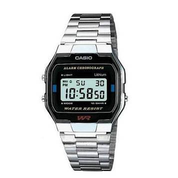 Casio A163WA-1QGF Silver-Black