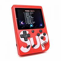 Портативна ігрова приставка на 400 ігор dendy SEGA 8bit SUP Game Box Червона, фото 1