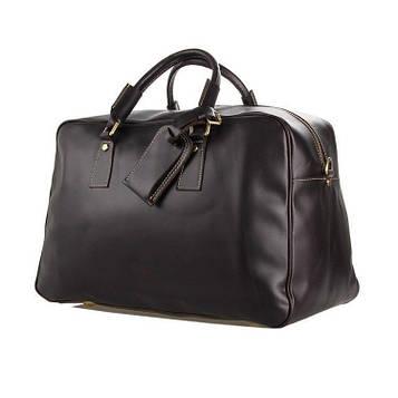 Велика зручна дорожня сумка шкіряна, англійський стиль 7156C