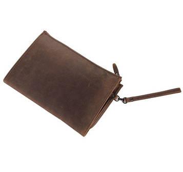 Вінтажна шкіряна папка, чоловічий клатч А5 7160R