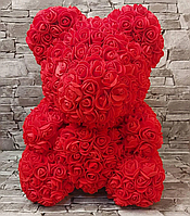 Мишко з троянд Червоний з серцем UTM 40 см