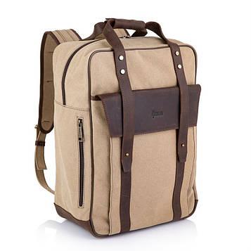 Сумка-рюкзак трансформер, канвас и кожа RC-3943-4lx TARWA