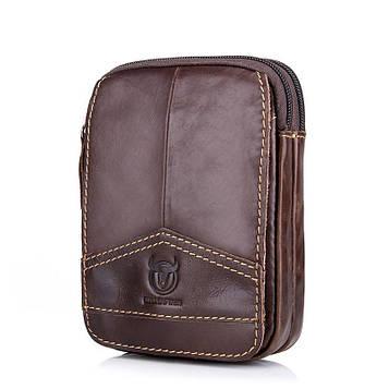 Шкіряна міні сумка на пояс від Bull YB12