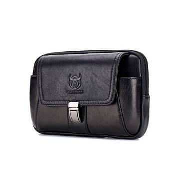Напоясная сумка-чехол для смартфона YB043A Bull из натуральной кожи