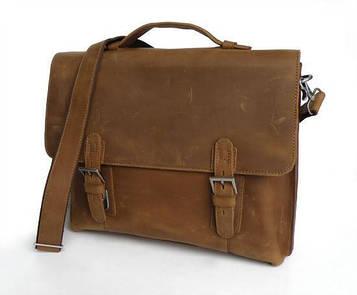 Чоловічий портфель, кінська шкіра 7035B-1