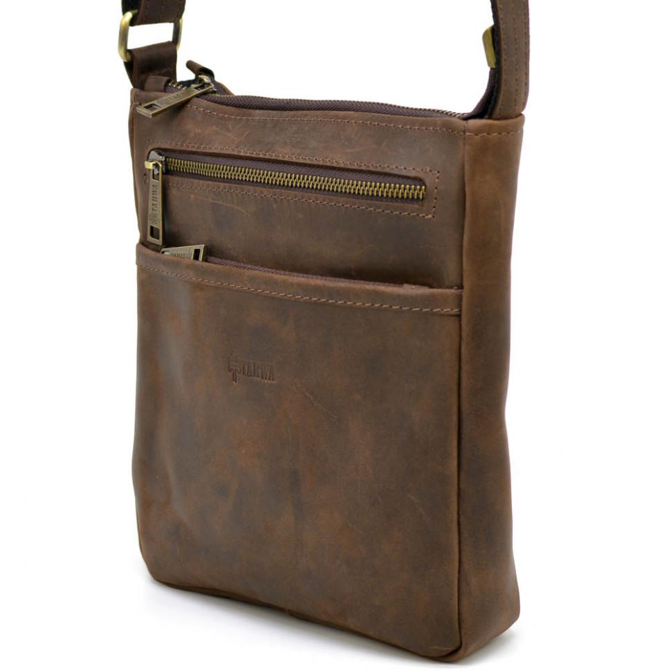 Чоловіча шкіряна сумка через плече RC-1300-3md TARWA коричнева