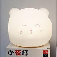 Ночник силиконовый Котик UTM (работает от сети, имеет акамулятор)